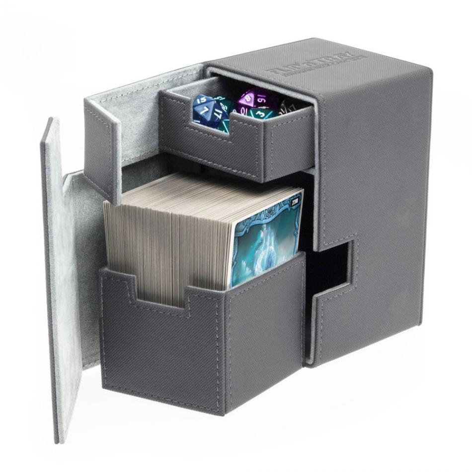 Flip'n'Tray Deck Case 100+ Standard Size XenoSkin Grey