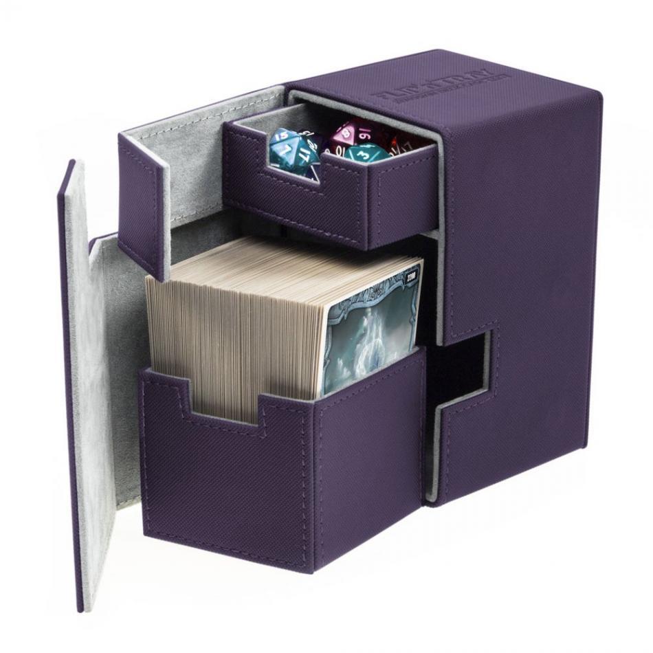 Flip'n'Tray Deck Case 100+ Standard Size XenoSkin Purple