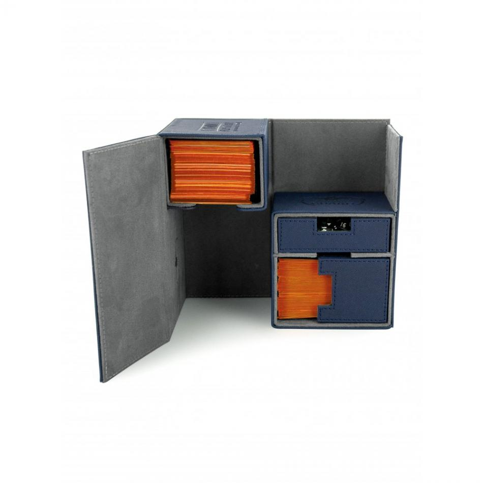 Twin Flip'n'Tray Deck Case 160+ Standard Size XenoSkin Blue