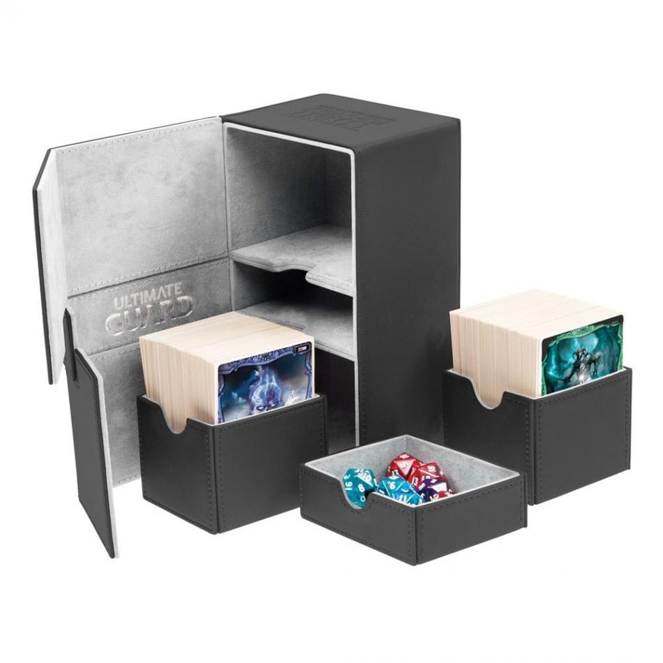 Twin Flip'n'Tray Deck Case 160+ Standard Size XenoSkin Black