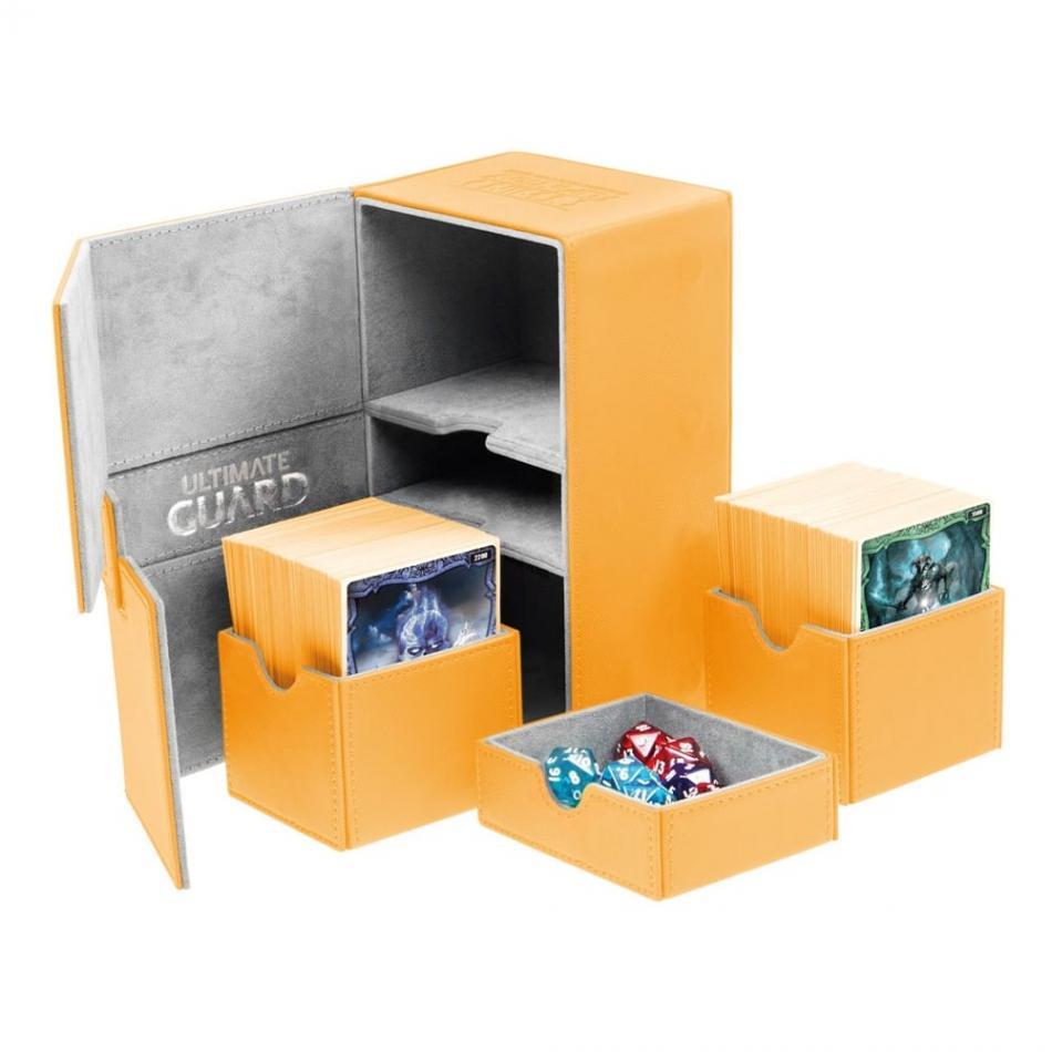 Twin Flip'n'Tray Deck Case 160+ Standard Size XenoSkin Amber