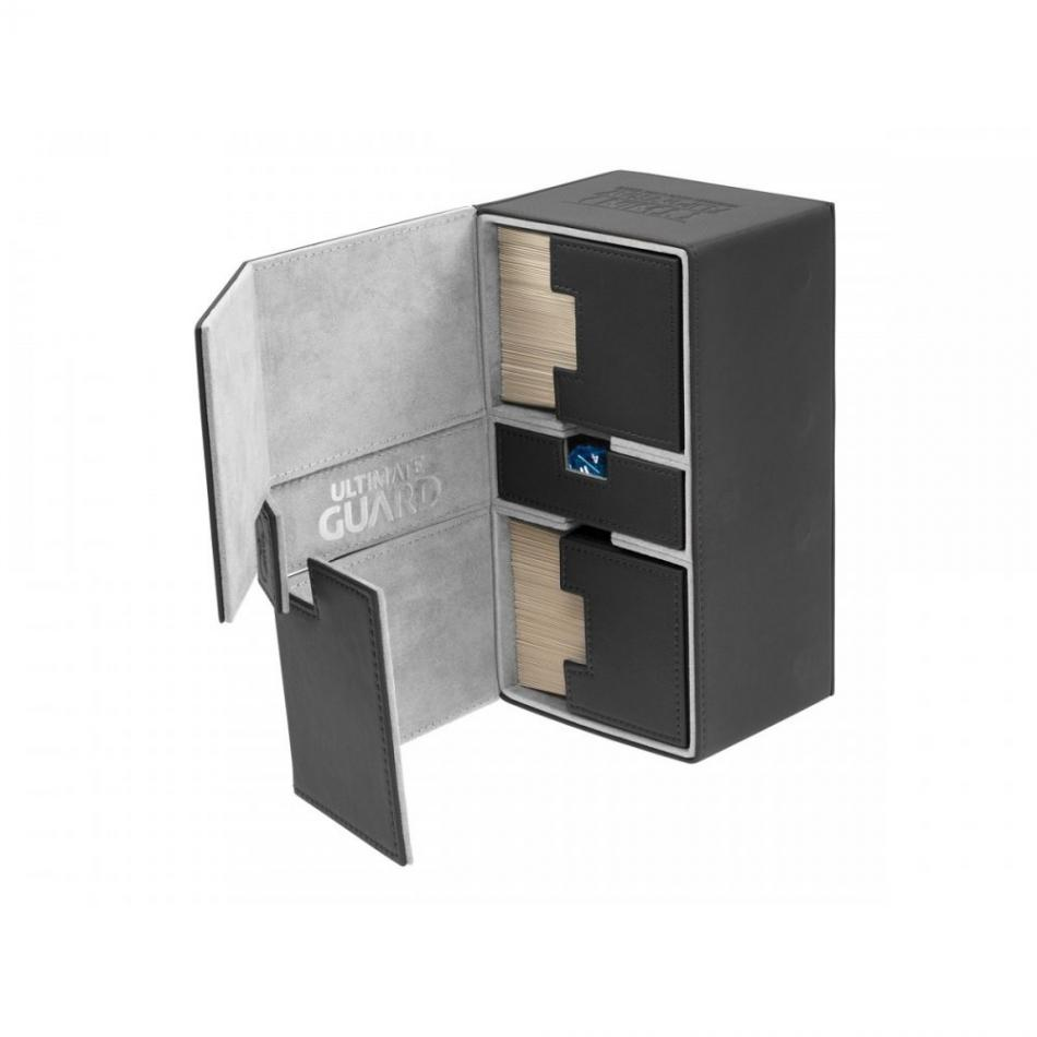 Twin Flip'n'Tray Deck Case 200+ Standard Size XenoSkin Black
