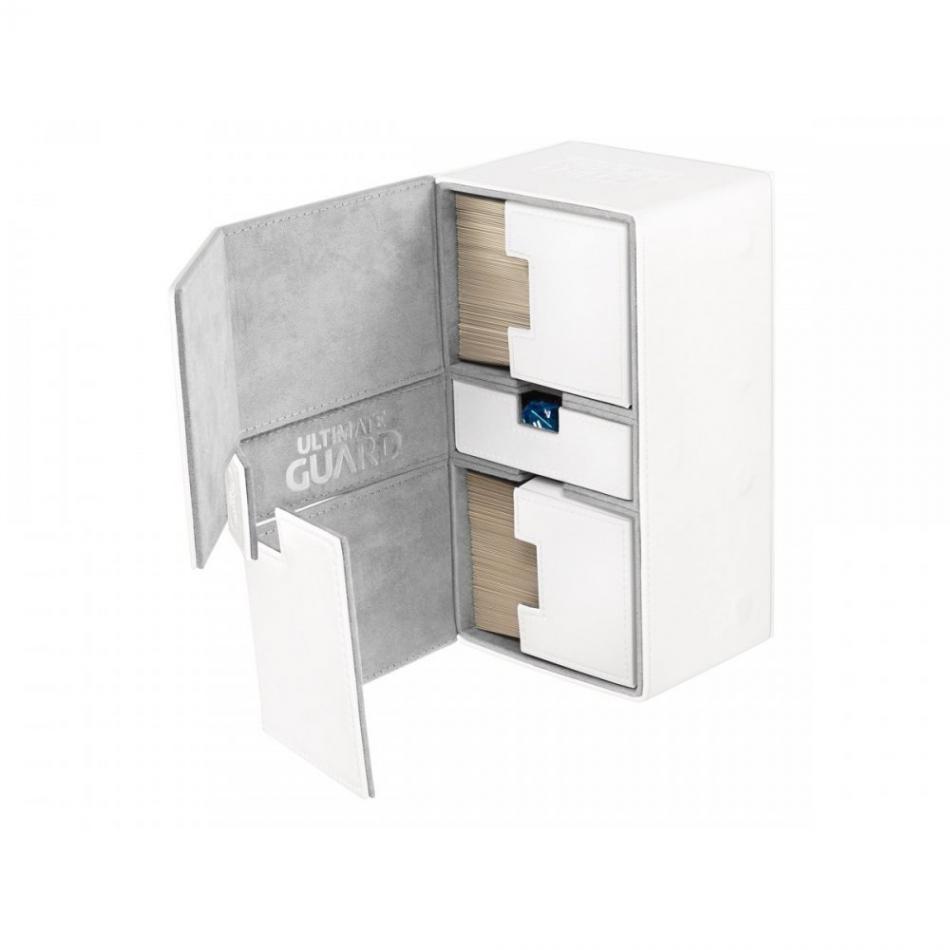 Twin Flip�n�Tray Deck Case 200+ Standard Size XenoSkin White