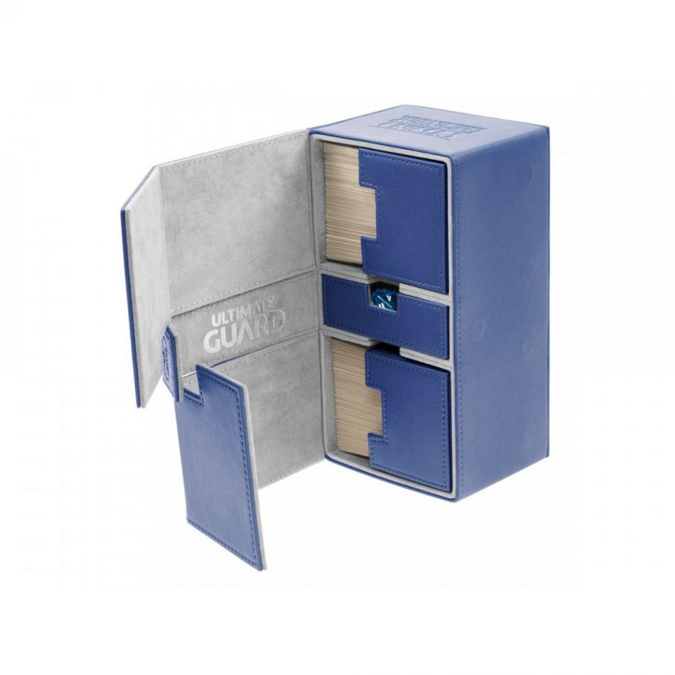 Twin Flip�n�Tray Deck Case 200+ Standard Size XenoSkin Blue