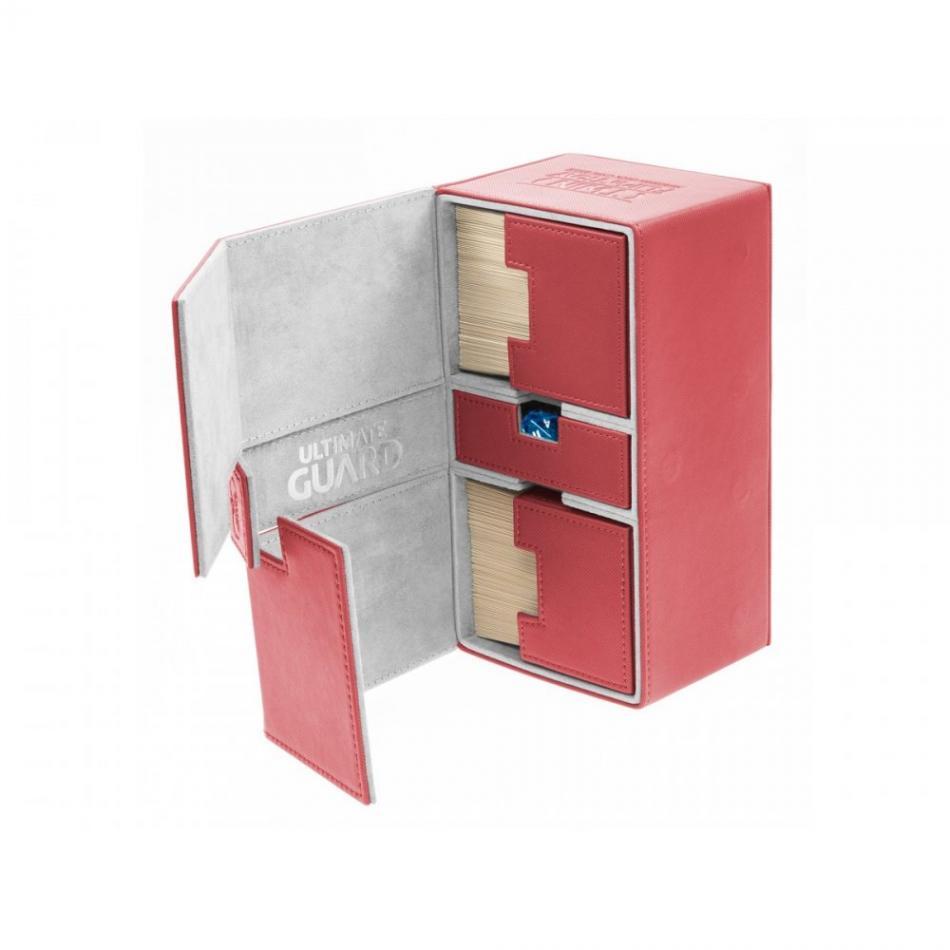 Twin Flip'n'Tray Deck Case 200+ Standard Size XenoSkin Red
