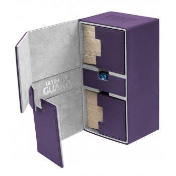 Twin Flip'n'Tray Deck Case 200+ Standard Size XenoSkin Purple