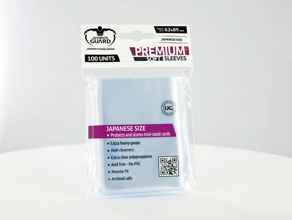 Premium Soft Sleeves Japanese Size Transparent (100)