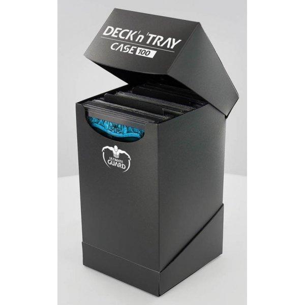 Deck'n'Tray Case 100+ Standard Size Black