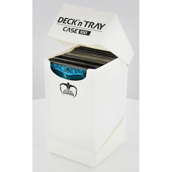 Deck'n'Tray Case 100+ Standard Size White