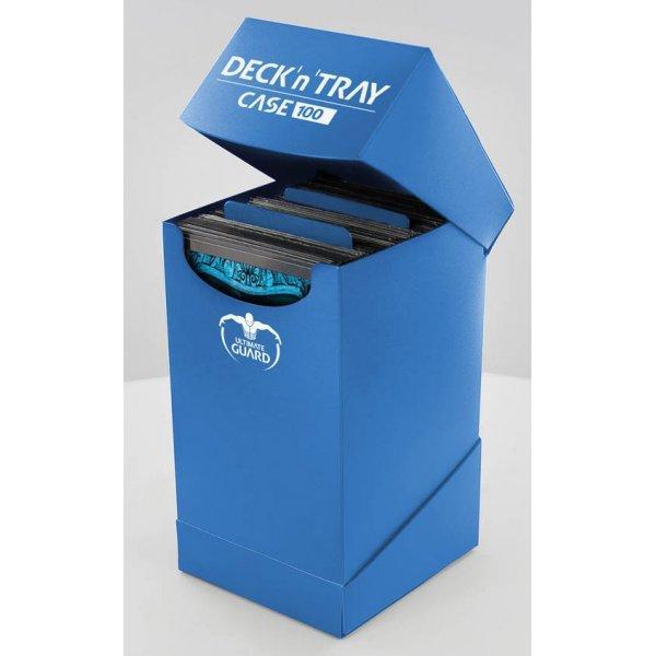 Deck'n'Tray Case 100+ Standard Size Blue