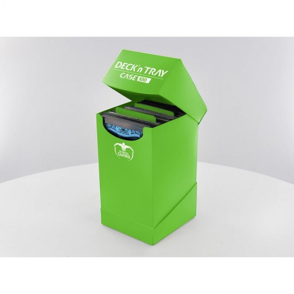 Deck'n'Tray Case 100+ Standard Size Green