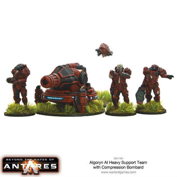 Algoryn AI Heavy Support Team with Compression Bombard