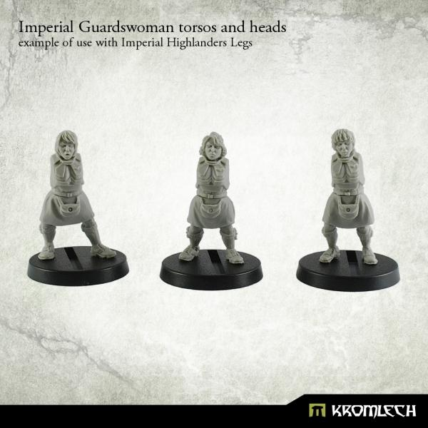 Imperial Guardswoman torsos and heads (5)