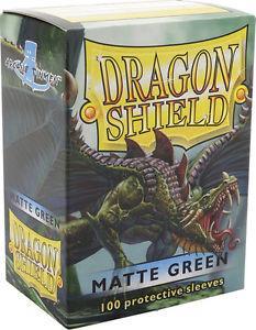 Dragon Shield Sleeves Matte Green (100)