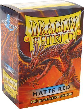 Dragon Shield Sleeves Matte Red (100)