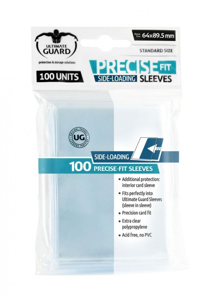 Precise-Fit Sleeves Side-Loading Standard Size Transparent (100)