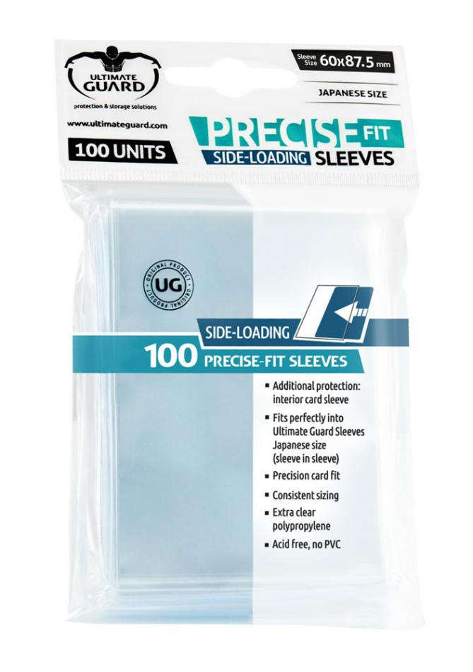 Precise-Fit Sleeves Side-Loading Japanese Size Transparent (100)