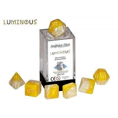 Halfsies Dice - Luminous (Poly 7 set)