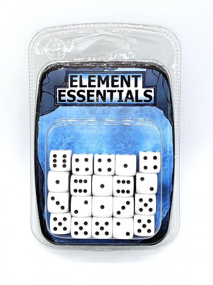 Element Games 12mm White Opaque Dice