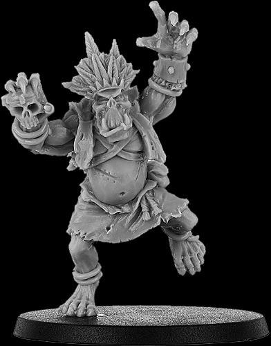 Queefus, Bone Orc Shaman on Foot