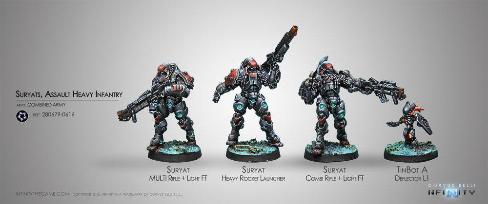 Suryats, Assault Heavy Infantry  (box of 4)