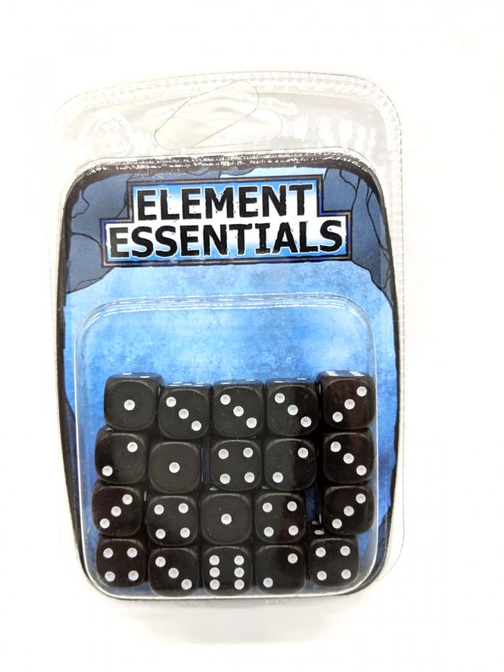 EG 12mm Coal Black Dice x20
