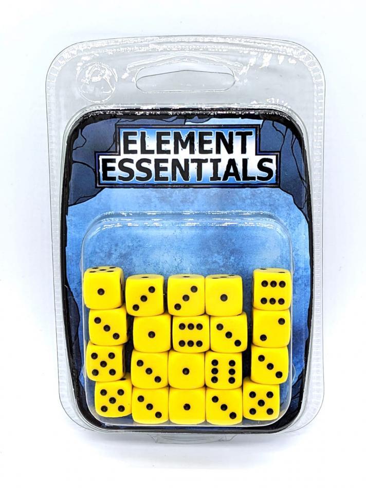EG 12mm Luminous Yellow Dice x20