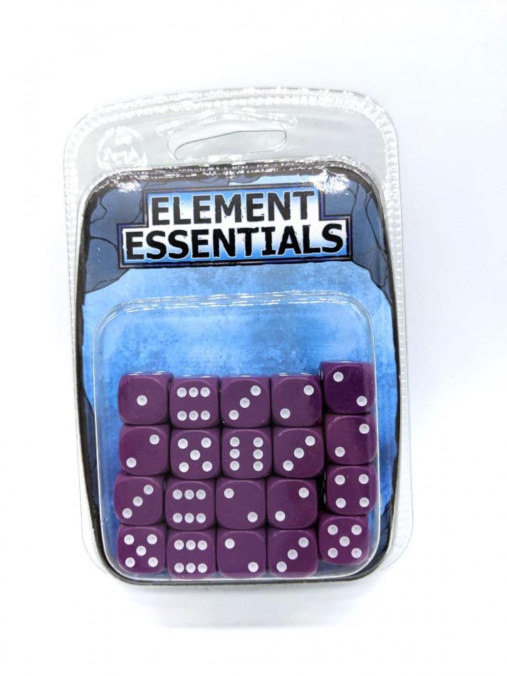 EG 12mm Luxurious Purple Dice x20