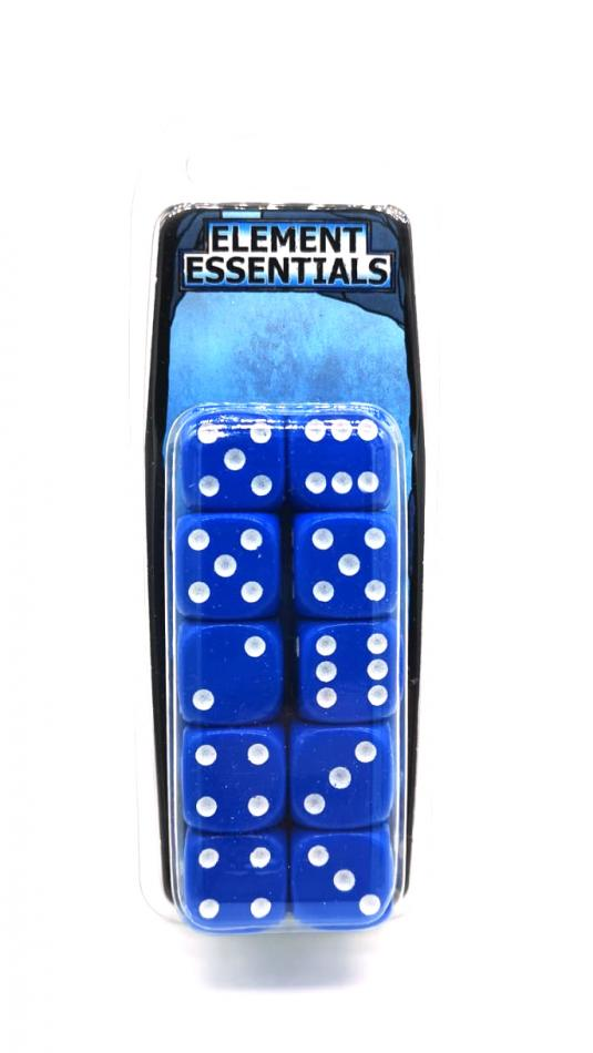 EG 16mm Cold Blue Dice x10