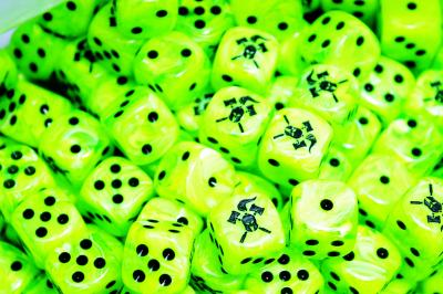Facehammer Dice Vortex Green Black