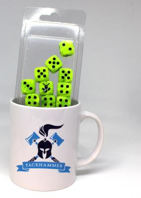 Facehammer Dice Vortex Green Black and Mug
