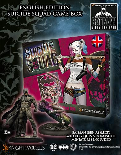 Suicide Squad Game Box + Harley Quinn Bombshell + Batman Ben Affleck