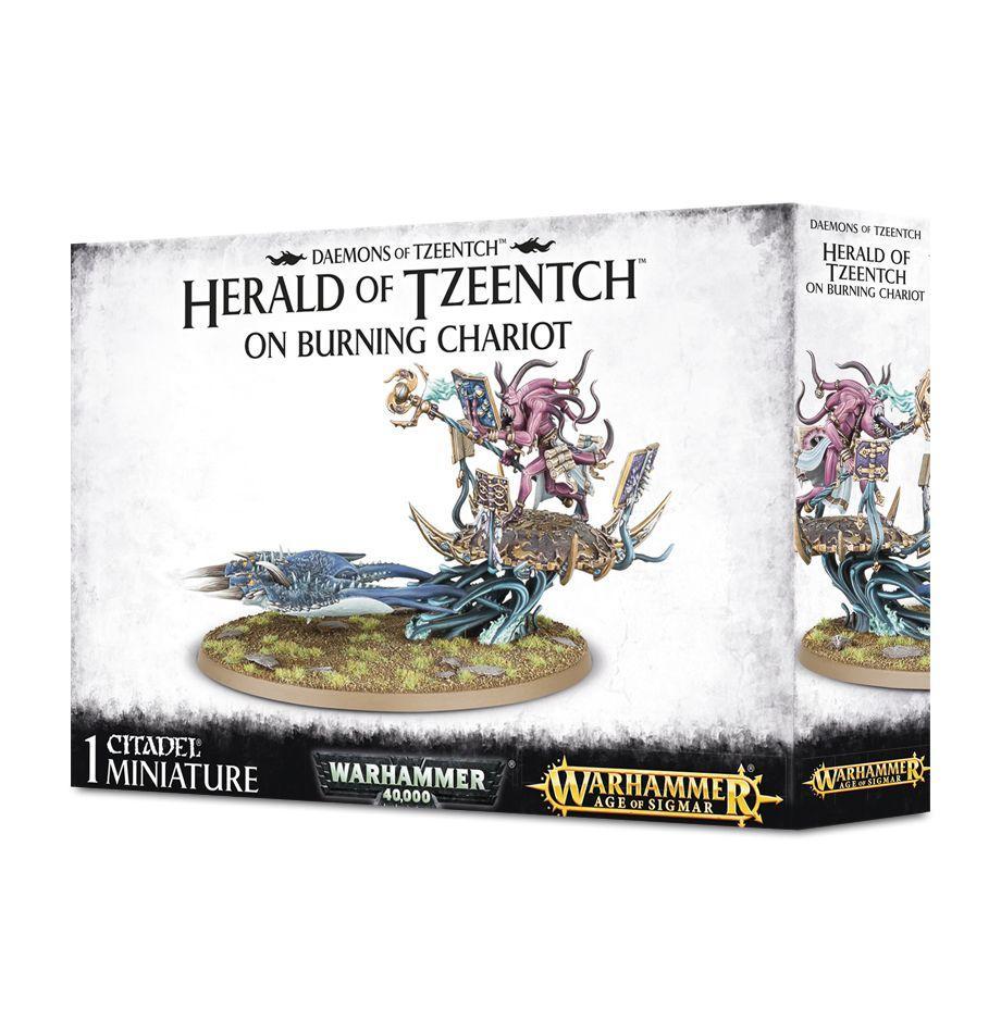 Fateskimmer Herald of Tzeentch on Burning Chariot