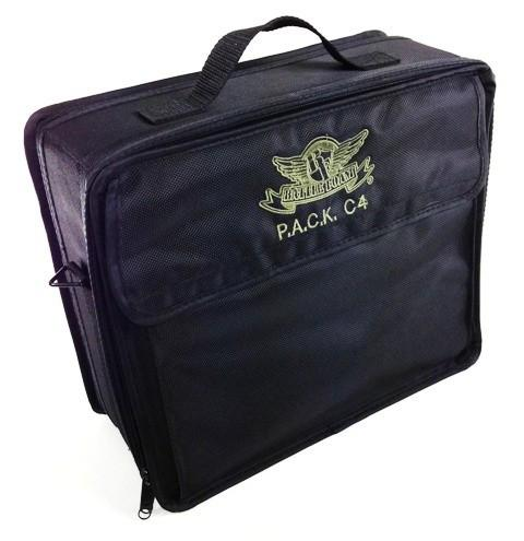 P.A.C.K. C4 Bag 2.0 (Black) with 3 Inch Pluck Foam Tray