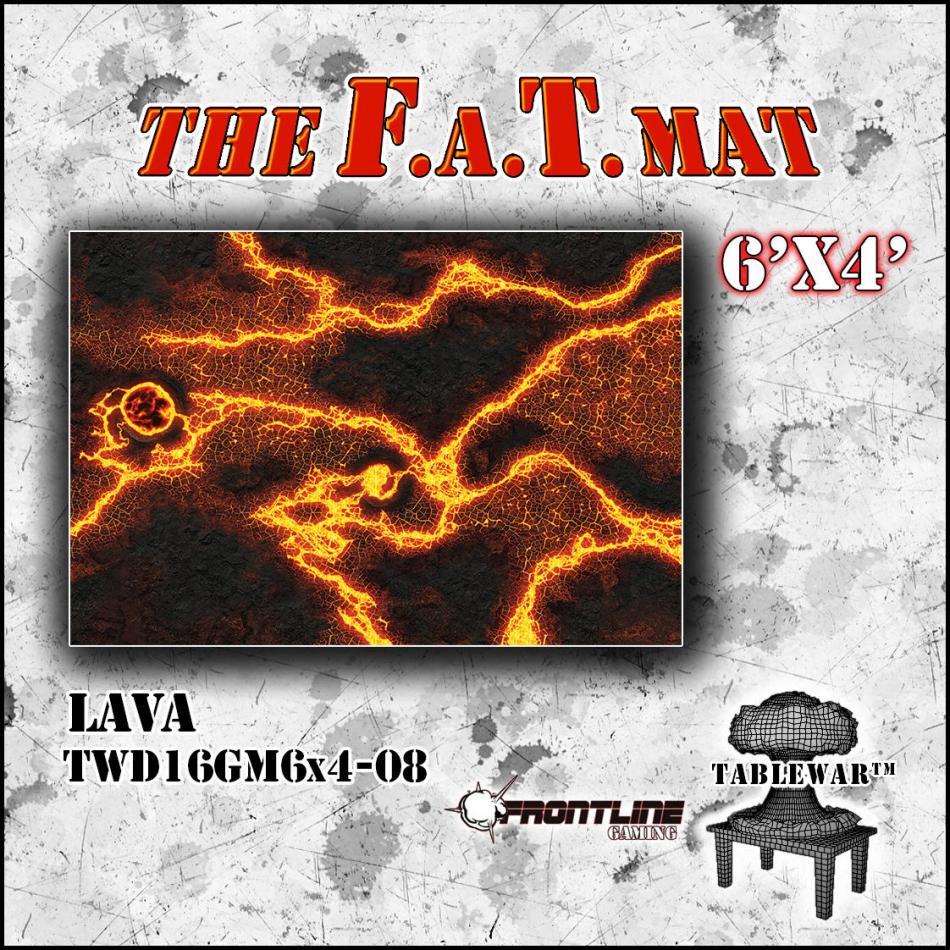 6'x4' Lava F.A.T Mat
