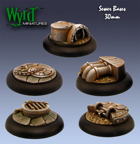 Sewer Bases  - 30mm (5 pack)