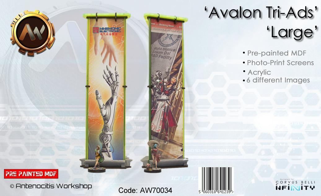 Avalon Tri-Ad (Large)  - Pre-painted MDF