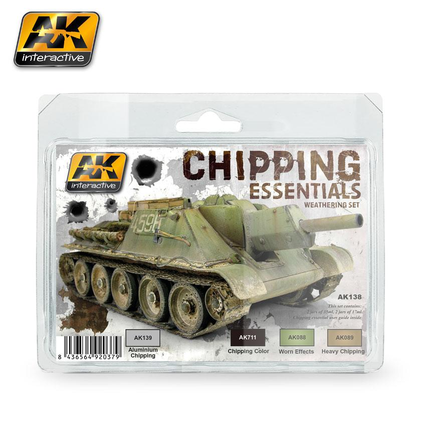 AK Interactive - Chipping Essentials Weathering Set