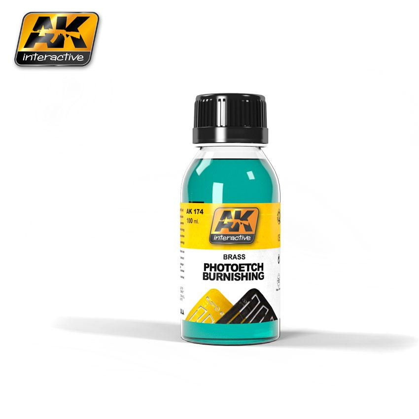 AK Interactive - 100ml Brass Photoetch Burnishing Fluid
