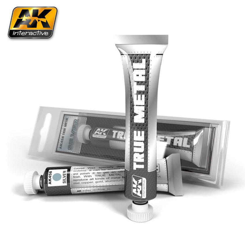 AK Interactive - True Metal Paints - Silver