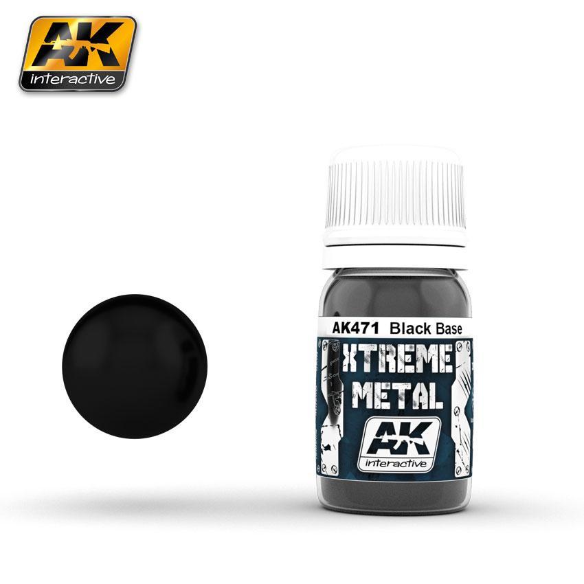 Ak Extreme Metal Paint 30ml -Blackbase