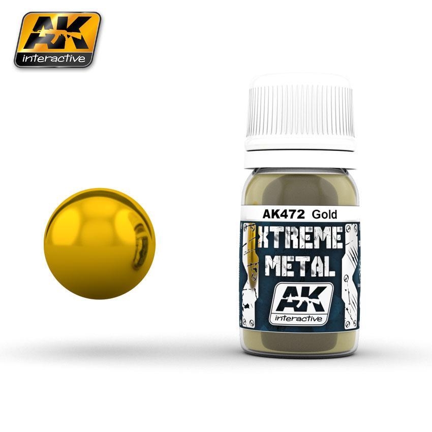 Ak Extreme Metal Paint 30ml -Gold