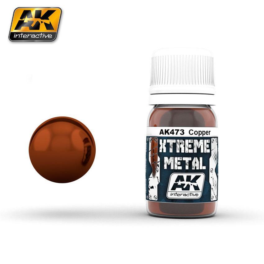 Ak Extreme Metal Paint 30ml -Copper