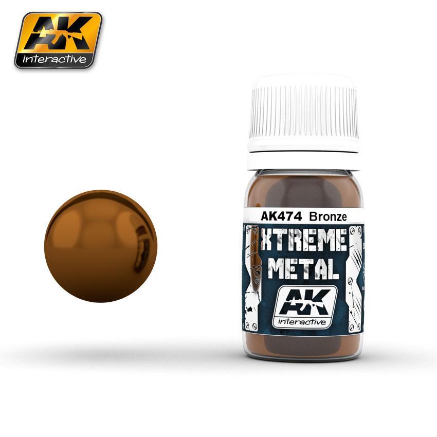 Ak Extreme Metal Paint 30ml -Bronze