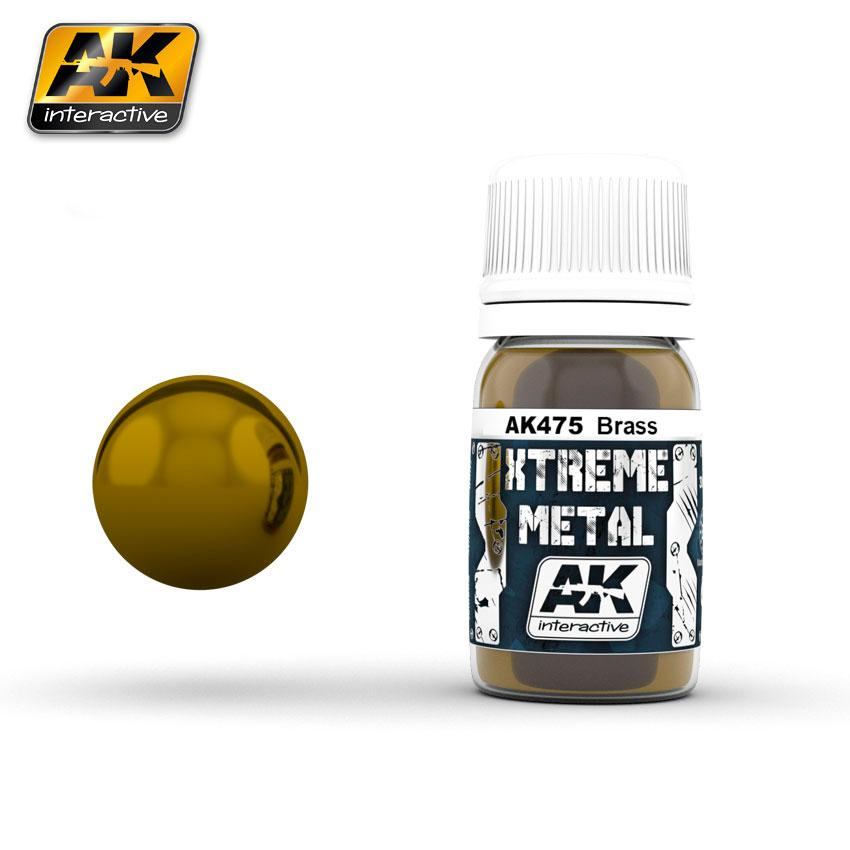Ak Extreme Metal Paint 30ml -Brass