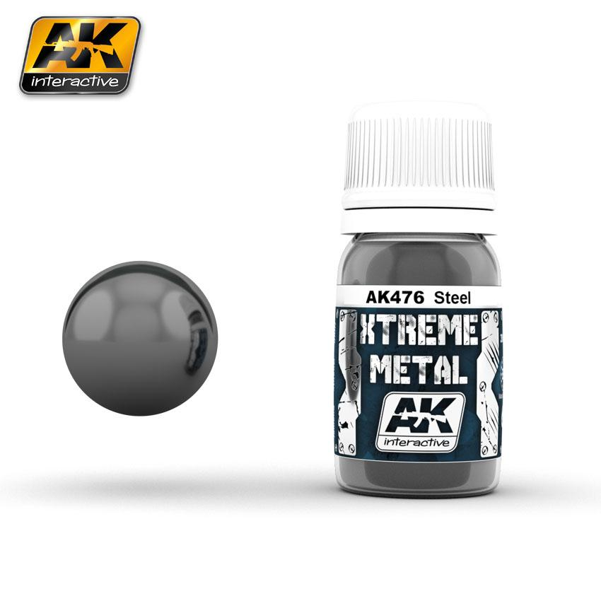 Ak Extreme Metal Paint 30ml -Steel