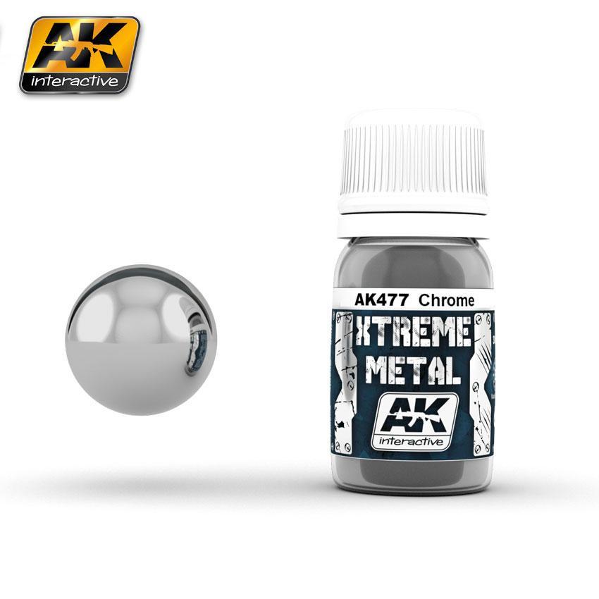 Ak Extreme Metal Paint 30ml -Chrome