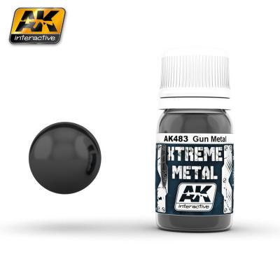 Ak Extreme Metal Paint 30ml -Gun Metal