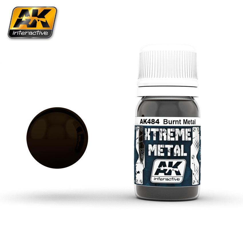 Ak Extreme Metal Paint 30ml -Burnt Metal
