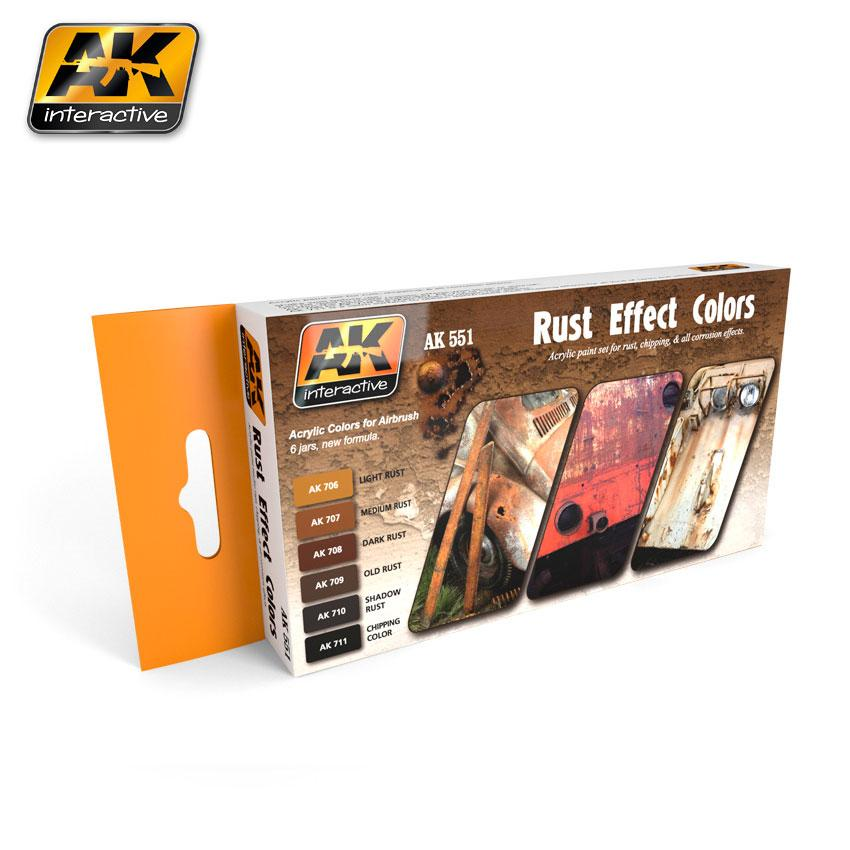 AK Interactive - Rust Effect Colors